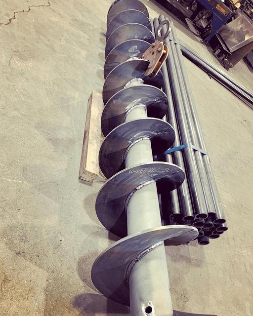 material processing screw